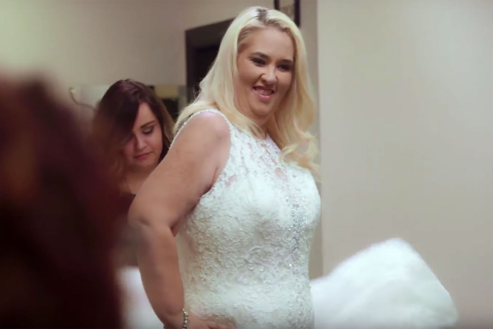Mama June Shows Off Her Size 12 Figure In a Wedding DressCredit: WE tv