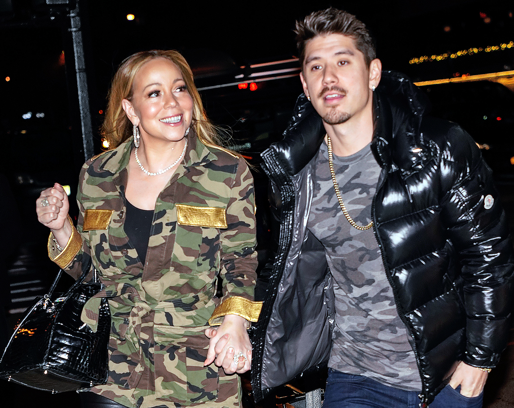 EXCLUSIVE: Mariah Carey and Bryan Tanaka go for date night in New York City at the Bowery Hotel and Buddakan