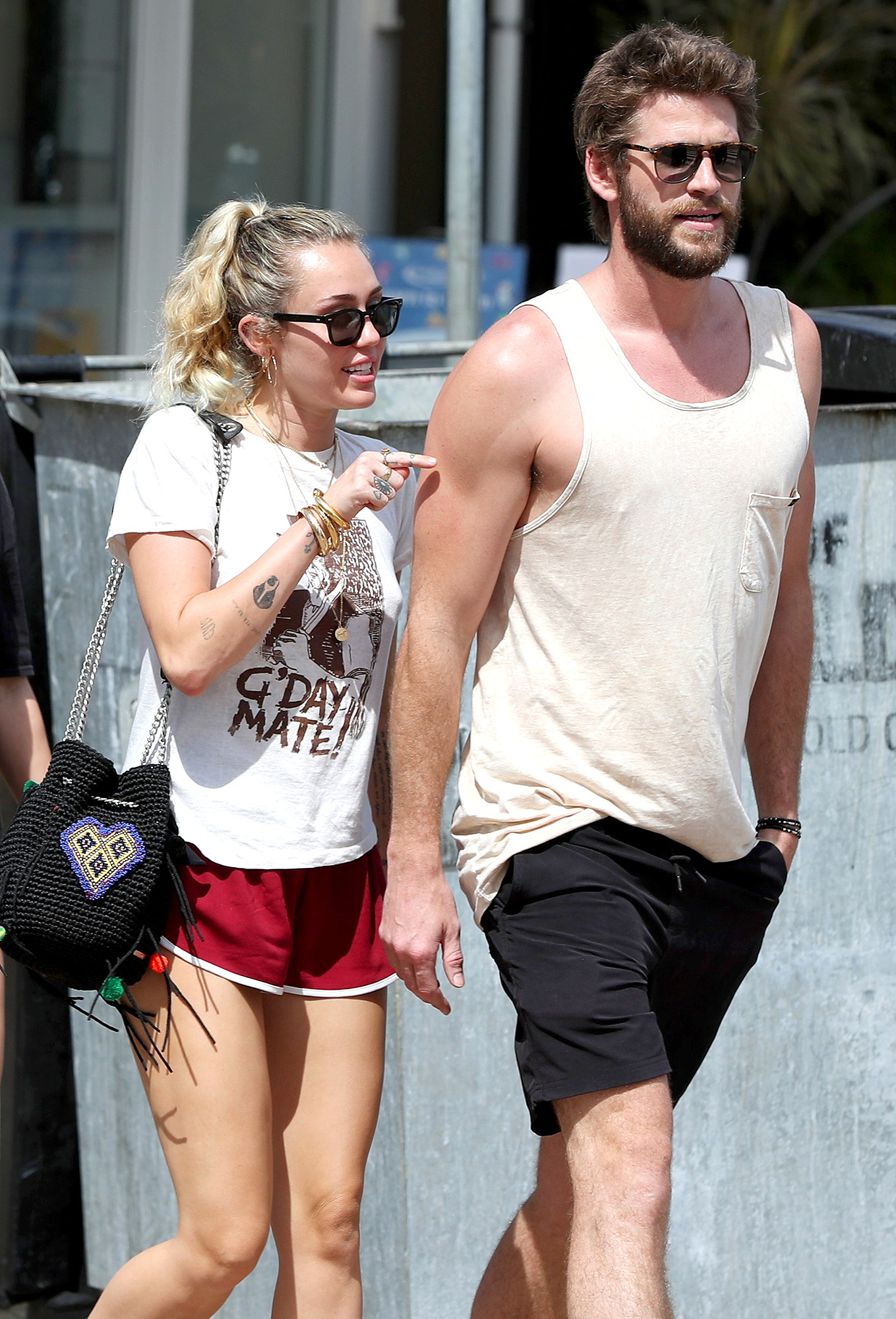 Liam Hemsworth And Miley Cyrus Sighting At Burleigh Heads - January 11, 2018