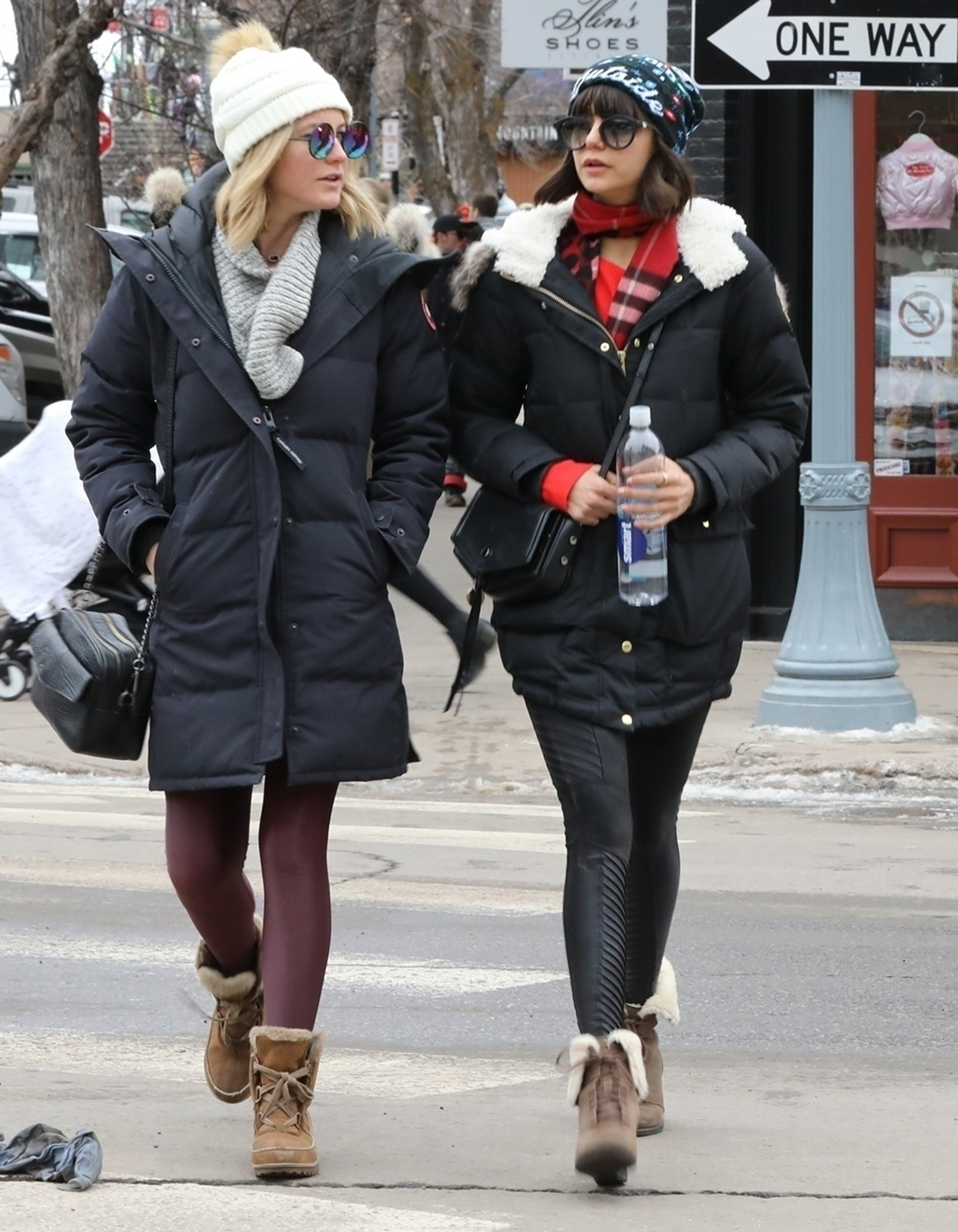 *EXCLUSIVE* Nina Dobrev explores Aspen with friends while on a Winter getaway