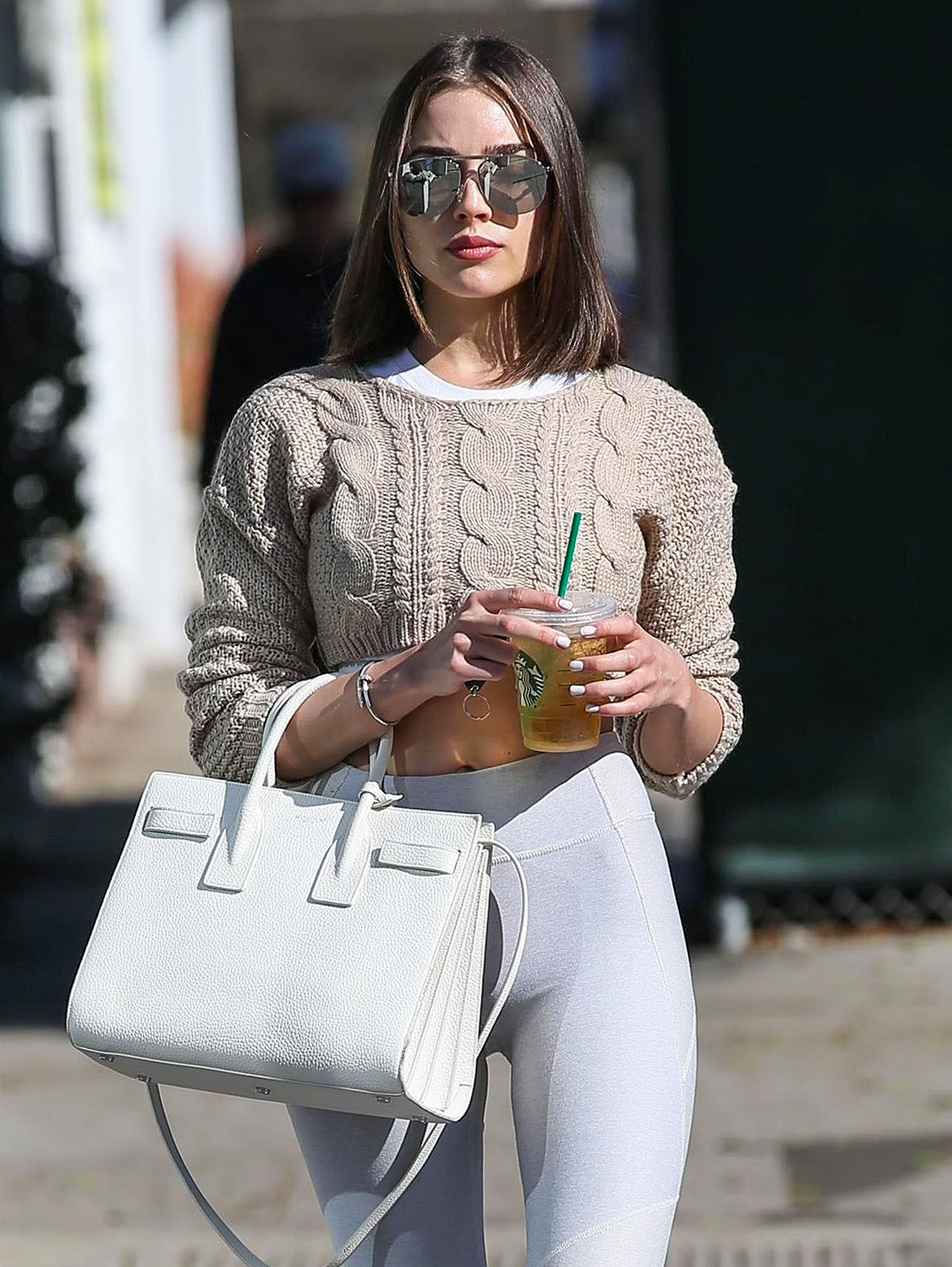 *EXCLUSIVE* Olivia Culpo shows off her fit frame as she stops by a Spa