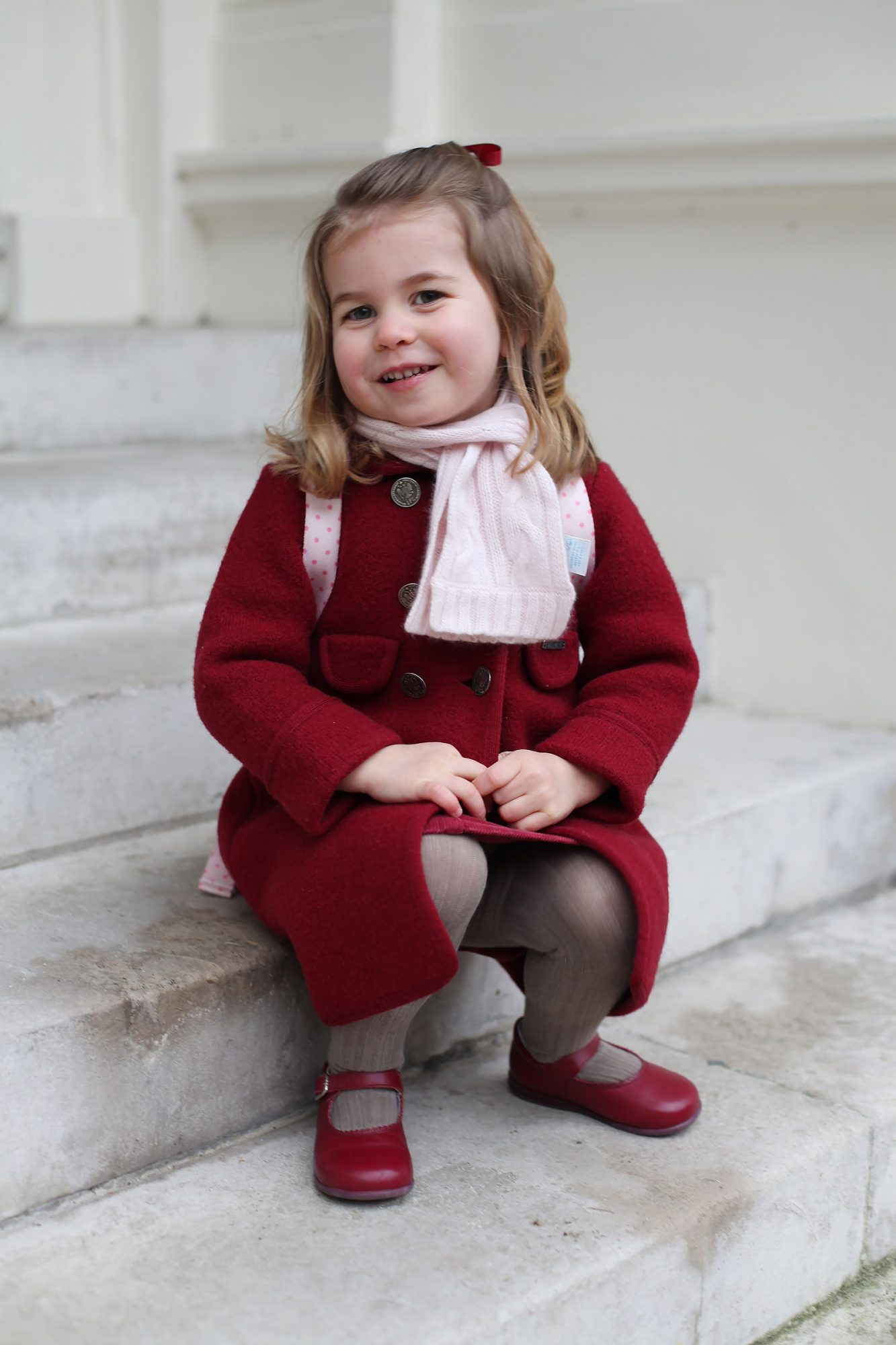 Princess Charlotte attends nursey, London, United Kingdom - 08 Jan 2018