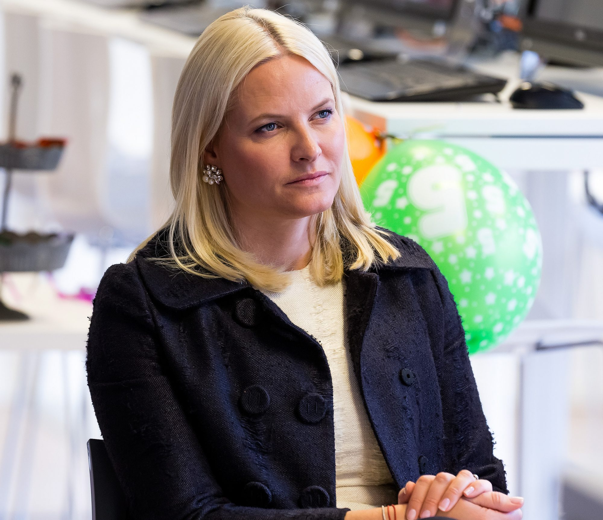 Crown Princess Mette-Marit visits  Stella Red Cross Women Centre