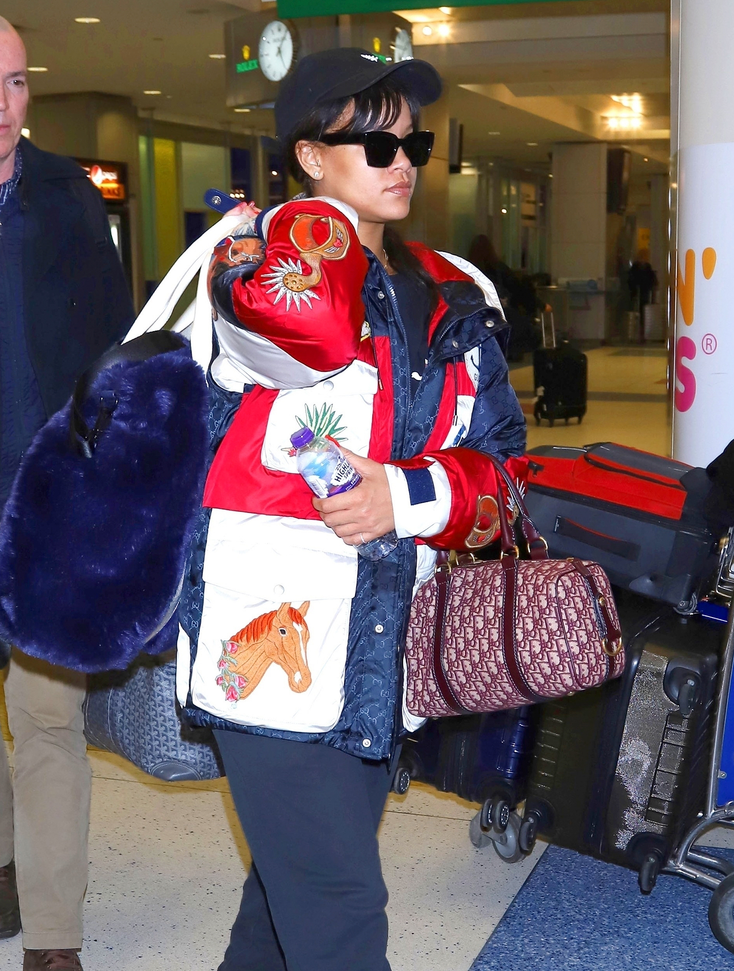 *EXCLUSIVE* Rihanna touches down in NYC