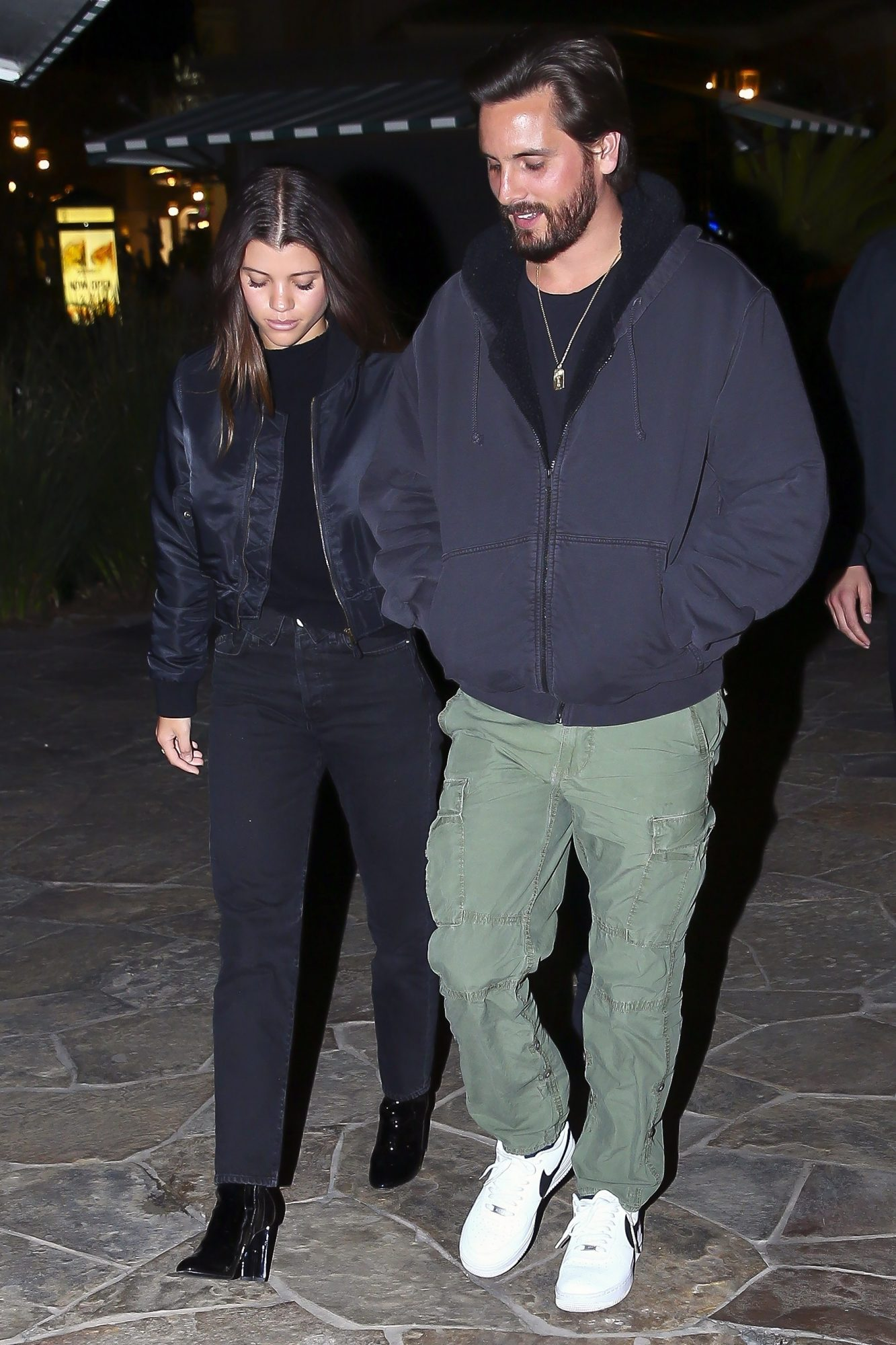 *EXCLUSIVE* Sofia Richie allegedly appears to be sipping on a drink while on a date with Scott Disick
