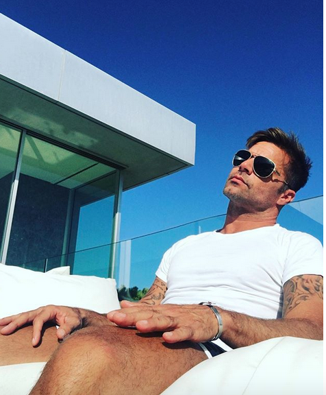 Ricky Martin yoga and meditation