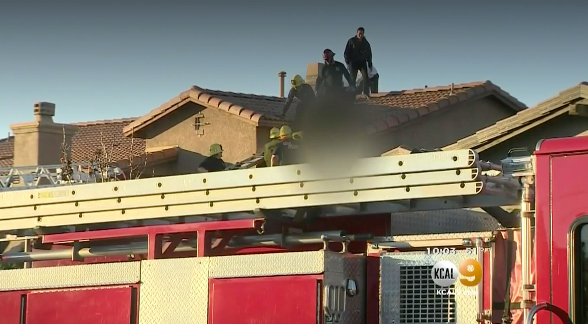 A skydiver landed on a roof in california and diedCredit: KCAL