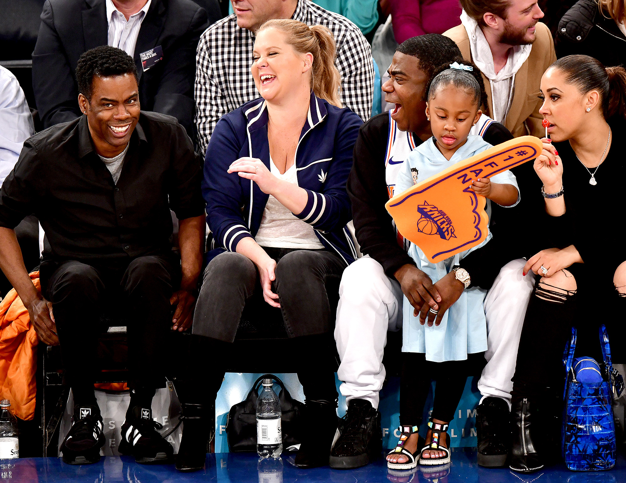 Celebrities Attend The New York Knicks Vs Golden State Warriors Game