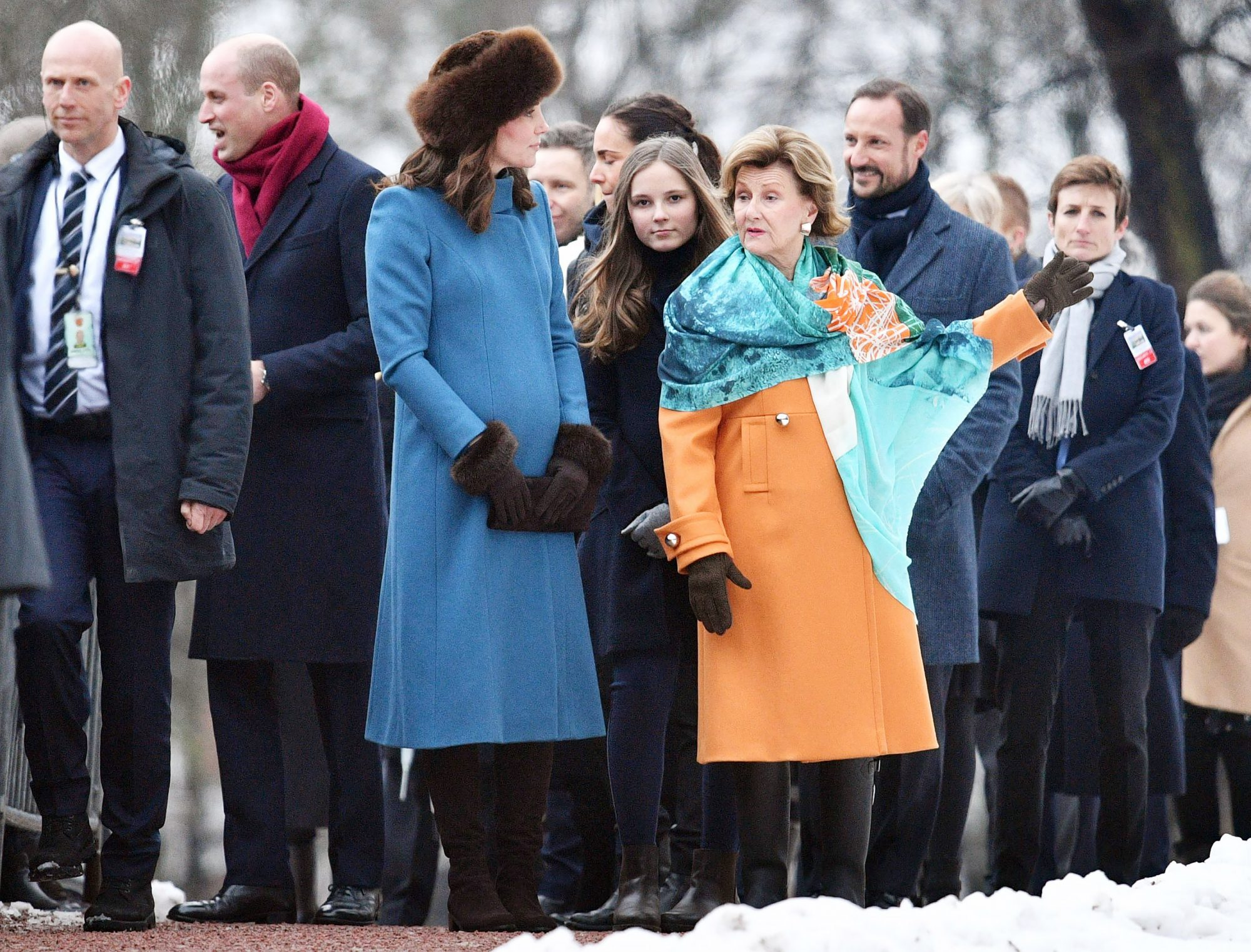 Prince William and Catherine Duchess of Cambridge visit to Norway - 01 Feb 2018