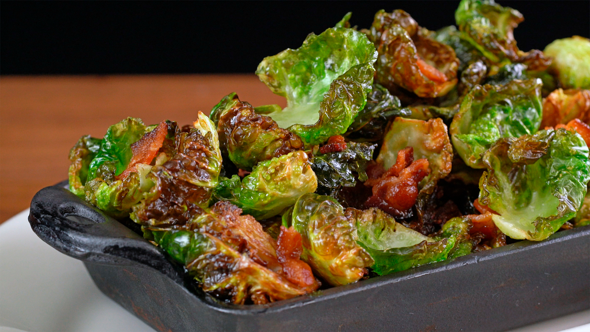 Crispy Brussels Sprouts with Bacon and Maple from THe Cheesecake Factory