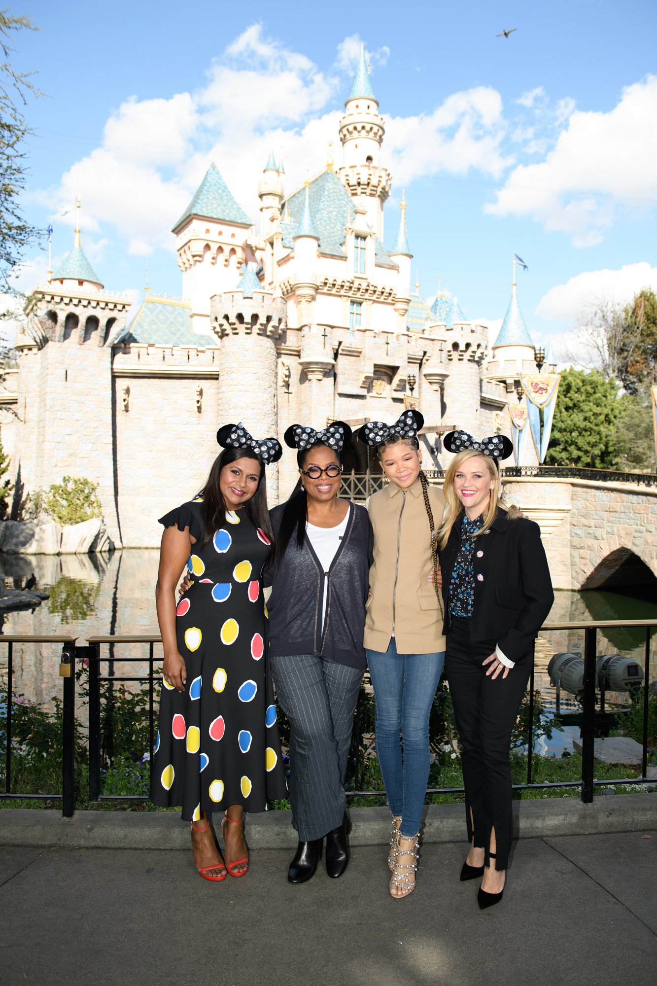 """The Stars of Disney's """"A Wrinkle in Time"""" Surprise Fans at Disneyland"""