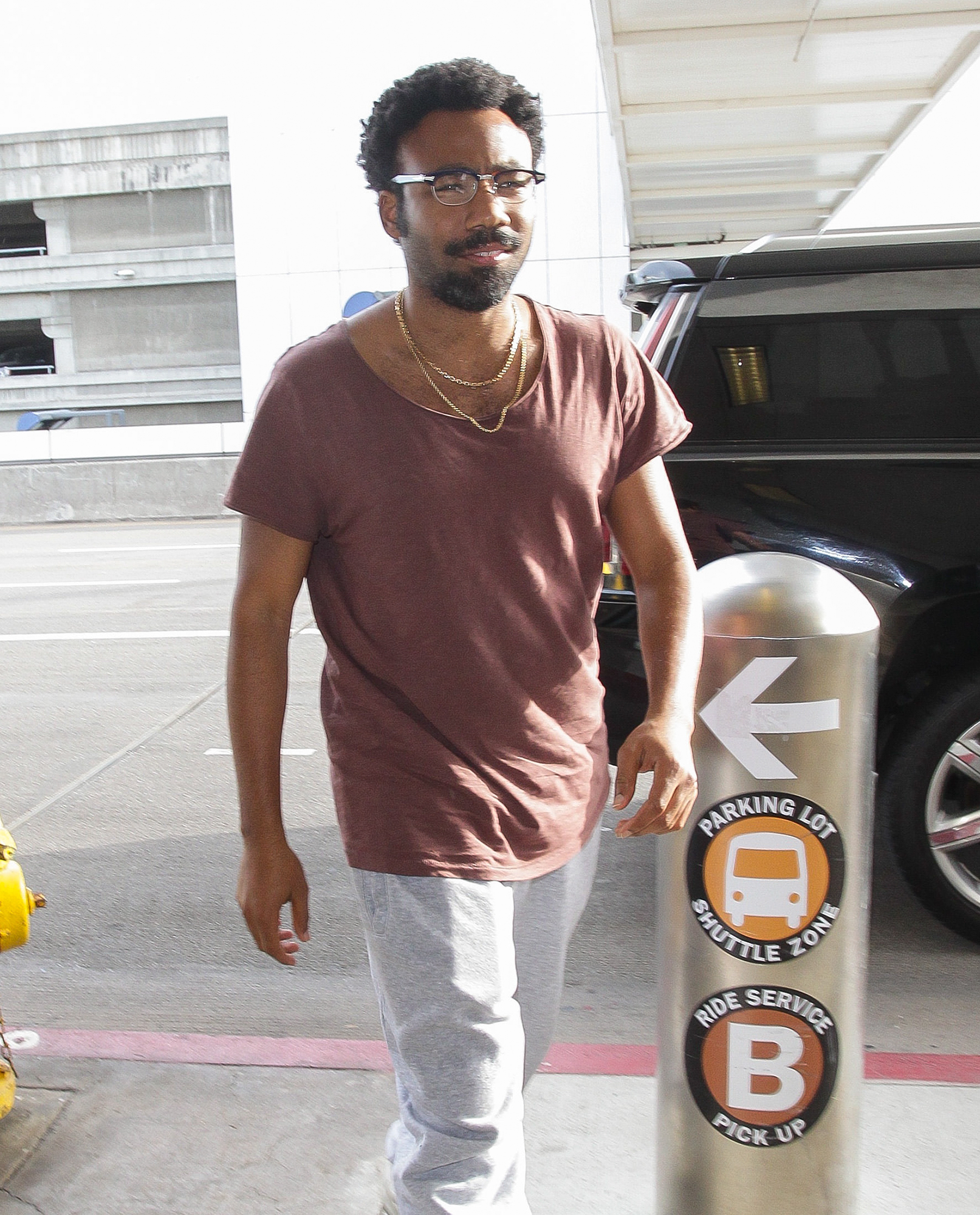 Donald Glover at LAX International Airport