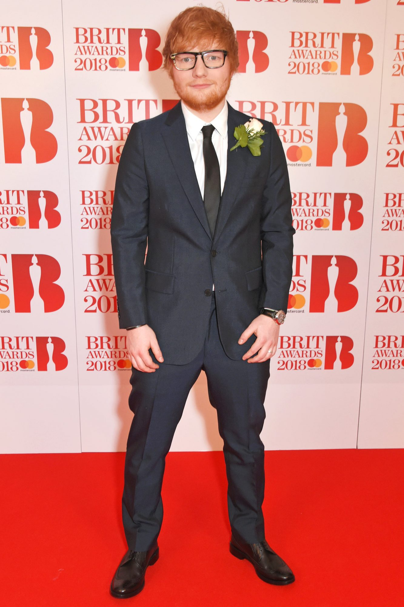 Celebrities wear white roses to support Time's Up at Brit Awards