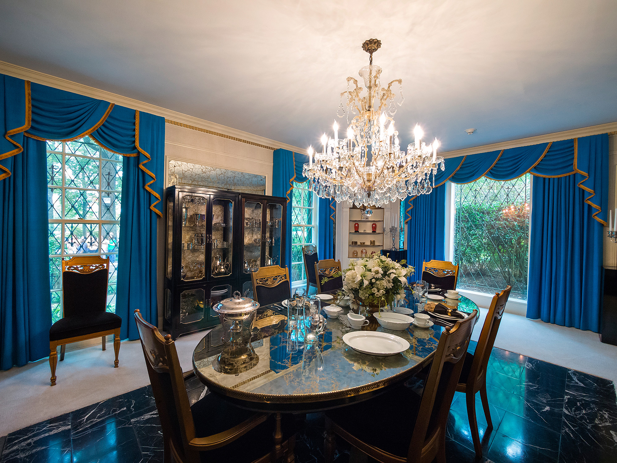 Interior of Graceland Mansion, Memphis, Tennessee.