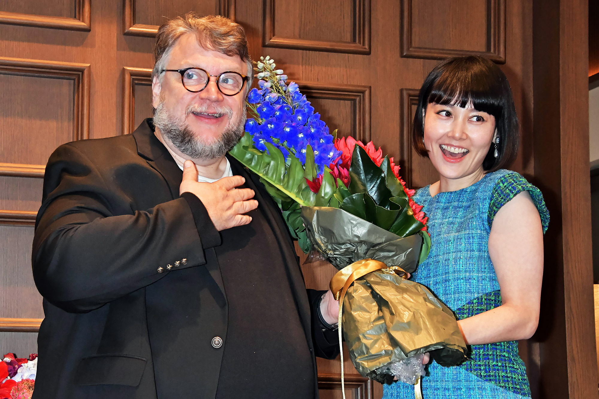 Guillermo del Toro Attends Press Conference for The Shape Of Water