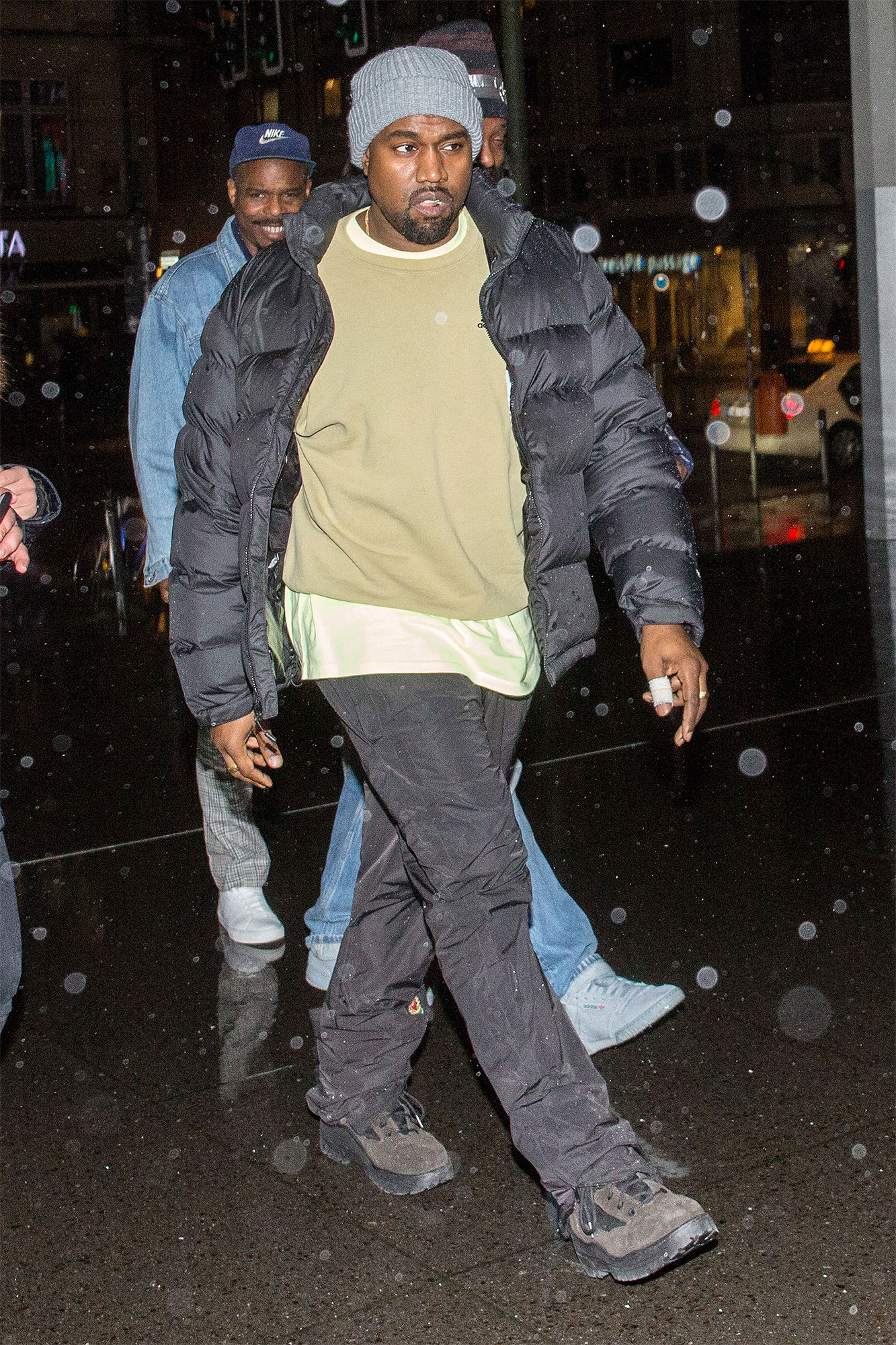 "Kanye West arrives and leaves Quatsch Comedy Club Berlin for Dave Chappelle "" The Process"" show, Germany"