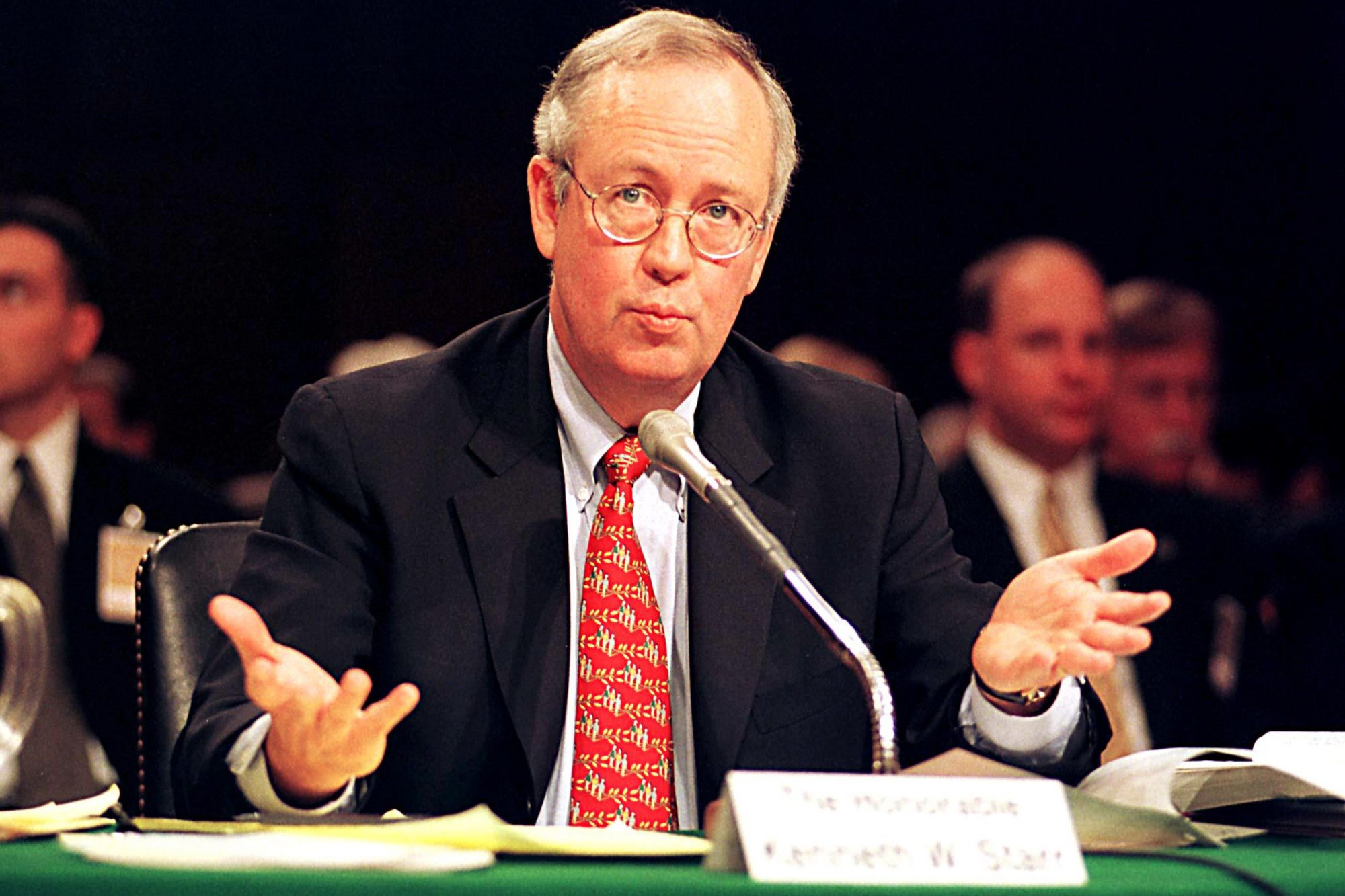 KENNETH W STARR, WHITEWATER INDEPENDENT COUNSEL, TESTIFIES BEFORE THE U.S. SENATE COMMITTEE ON GOVERNMENTAL AFFAIRS, WASHINGTON, AMERICA - 1999