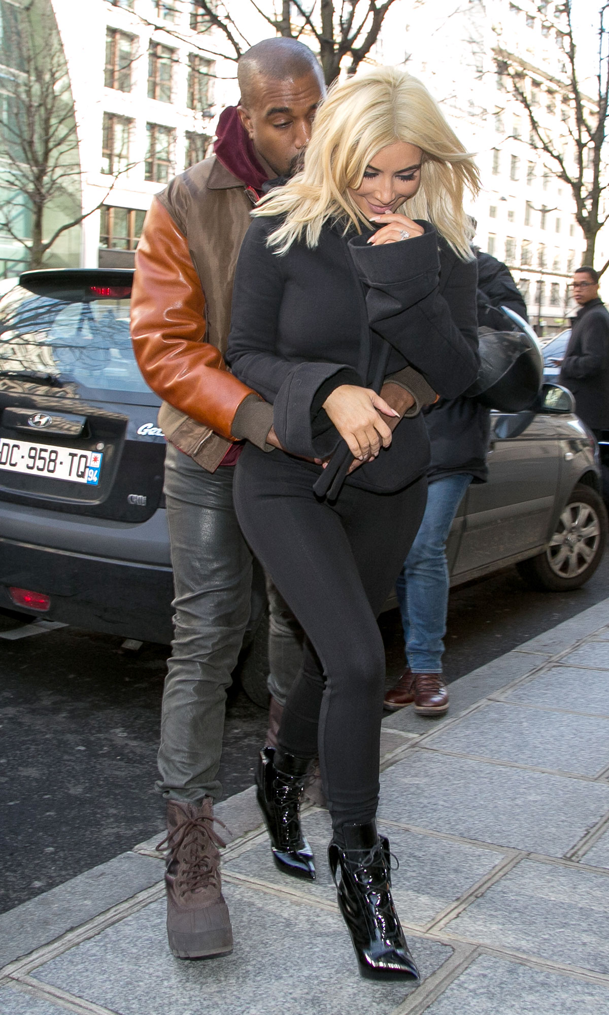 Kim Kardashian West and Kanye West Sighting In Paris -  March 06, 2015