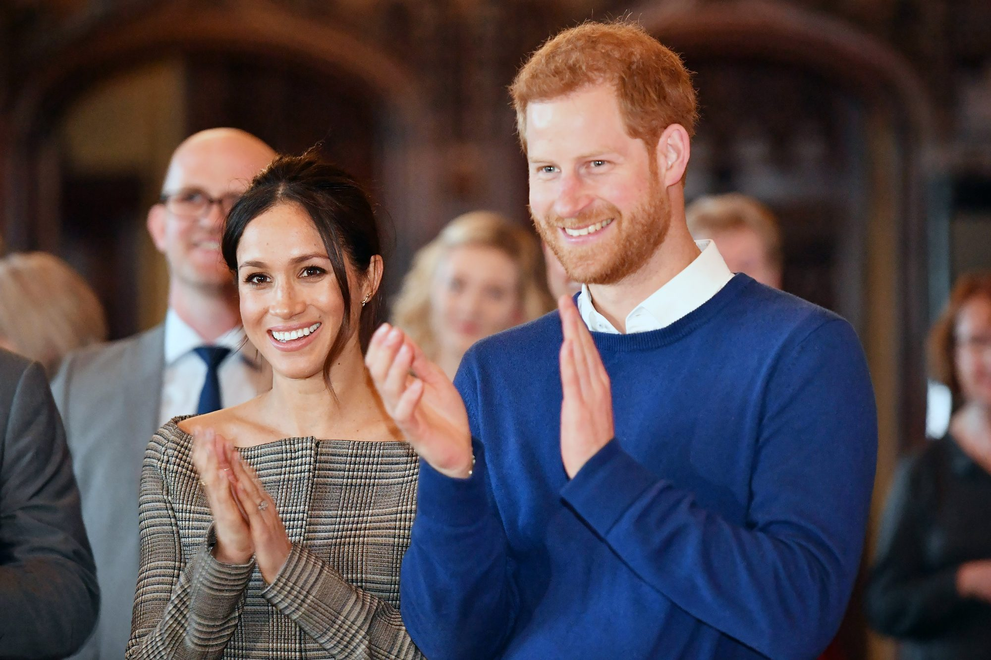 Prince Harry and Meghan Markle visit to Cardiff, Wales, UK - 18 Jan 2018