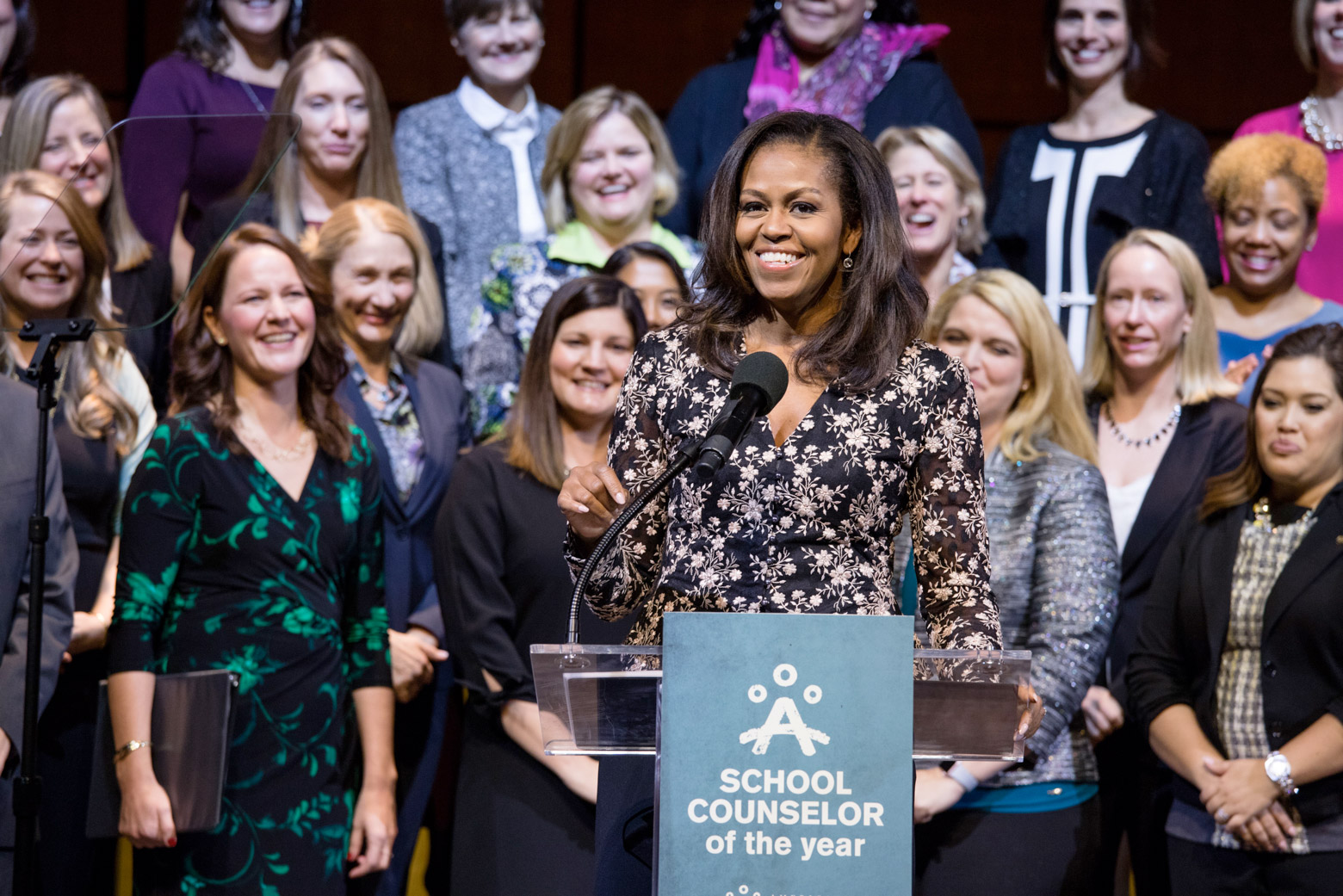 Michelle ObamaSchool Counselor of the YearCredit: Chuck Kennedy