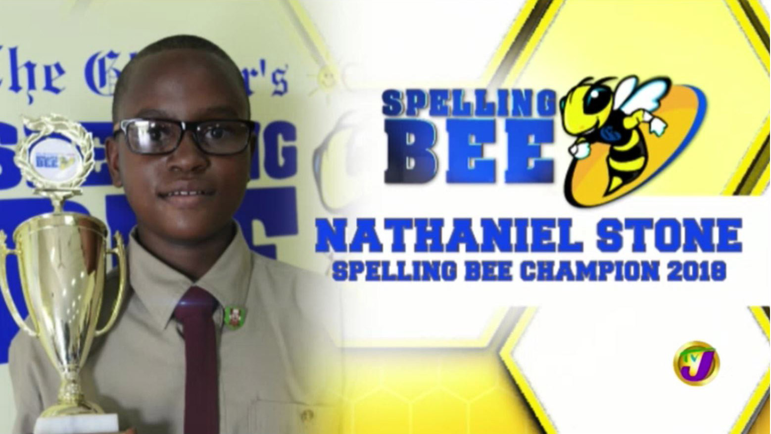 11-year-old Nathaniel Stone became Jamaica's 2018 spelling champion.