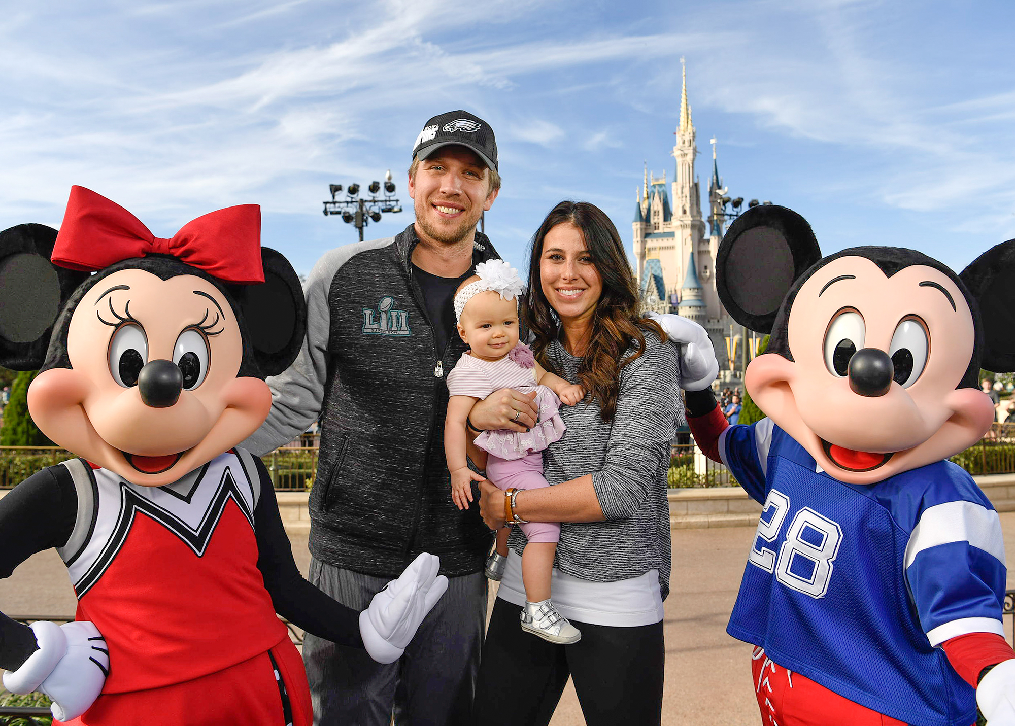 Nick Foles of The Philadelphia Eagles Celebrates at Walt Disney World