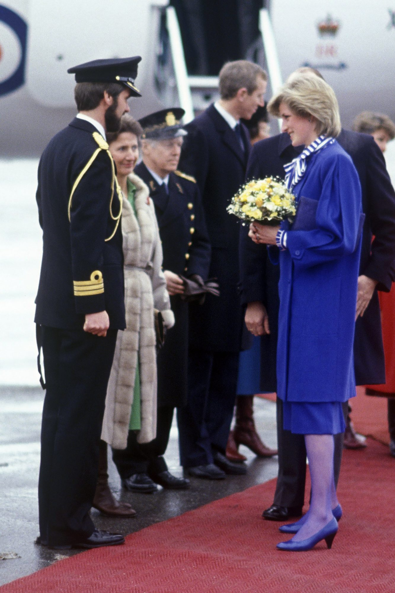 Diana, Princess of Wales..On her first solo overseas trip, to Norway