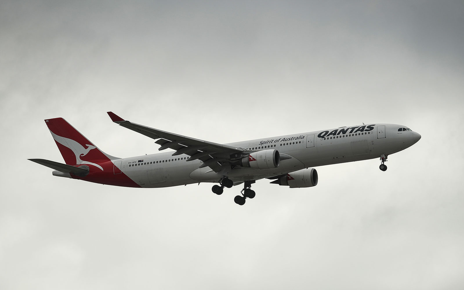 General Views of Qantas Aircraft Ahead of Half-Year Results