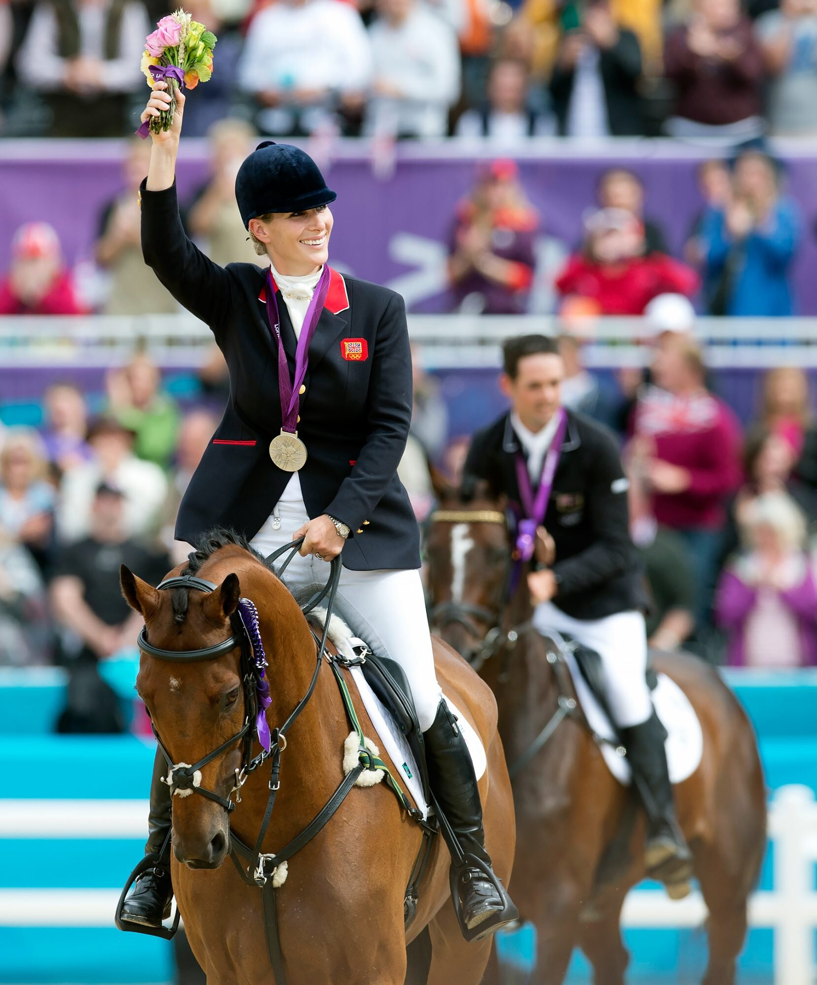 Great Britain's Zara Phillips riding Hig