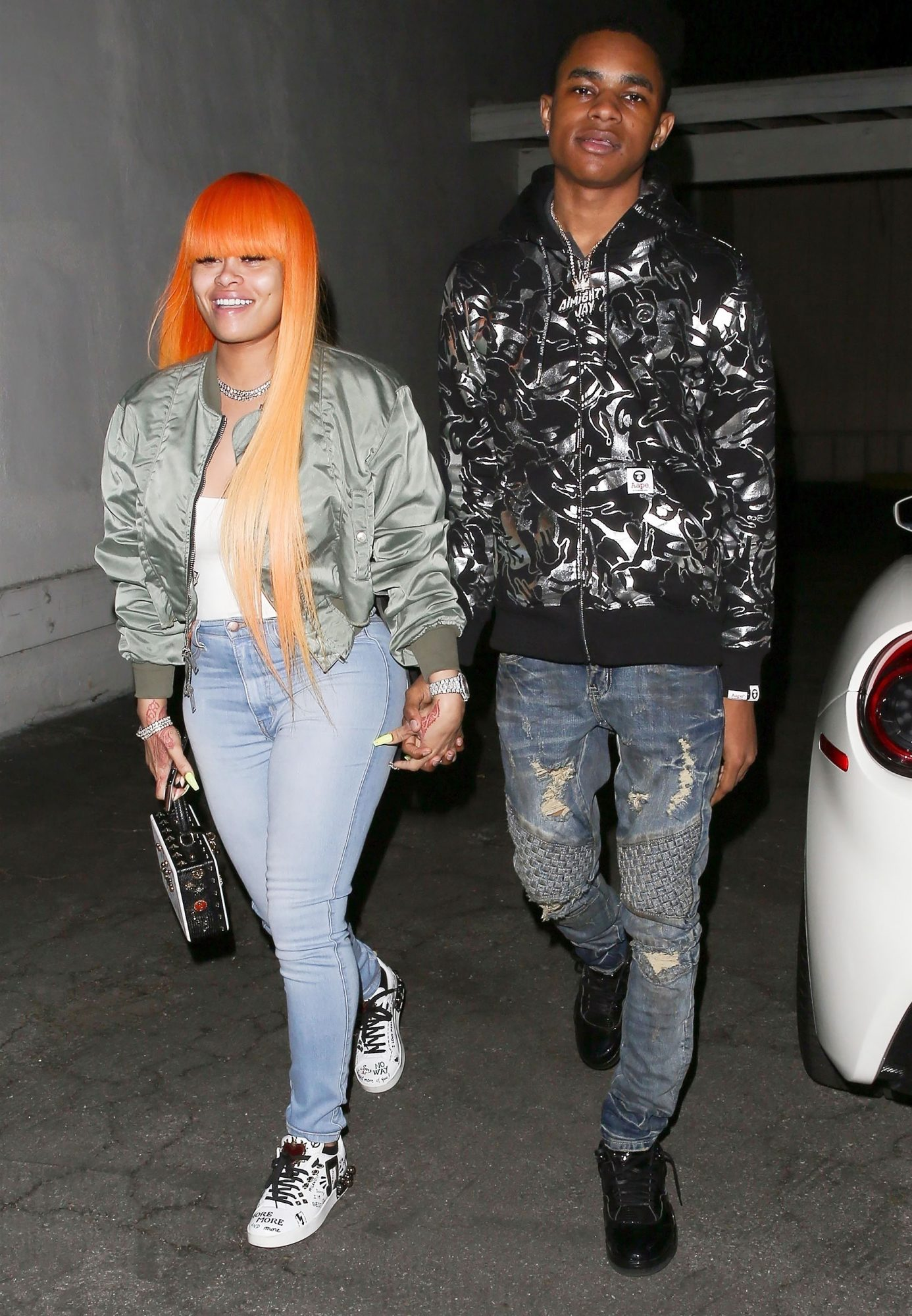 *EXCLUSIVE* Blac Chyna spotted holding hands with new boyfriend, 18 year-old rapper YBN Almighty Jay in Studio City during date night