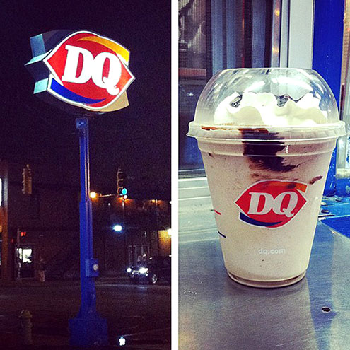 DAIRY QUEEN FROZEN HOT CHOCOLATE