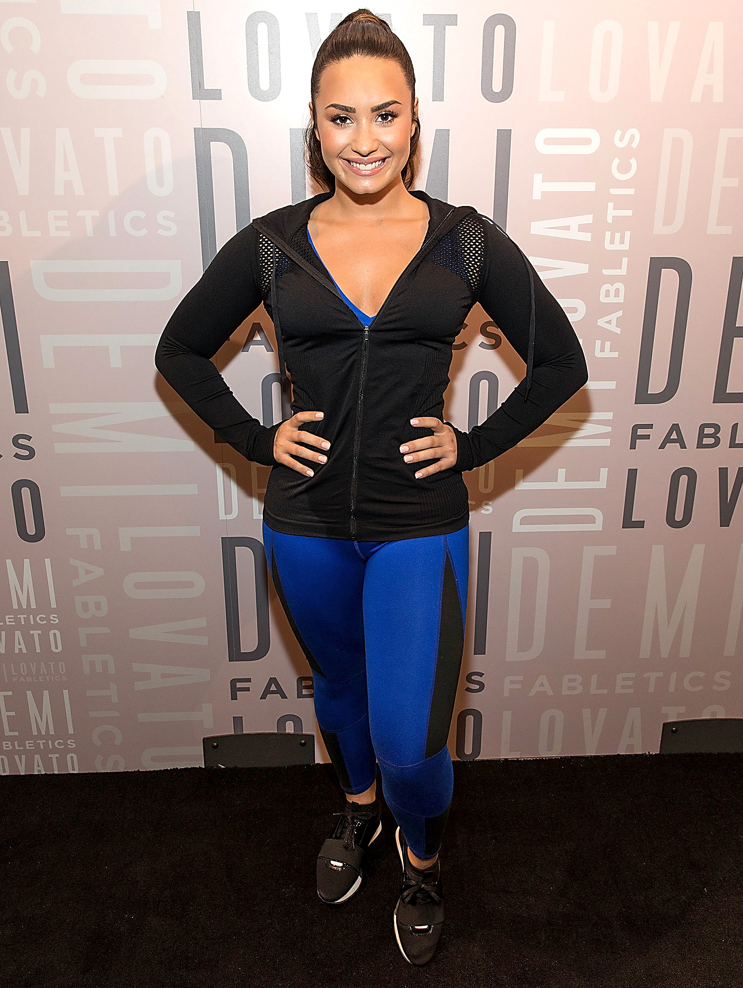 Demi Lovato Visits Fabletics at Legacy West