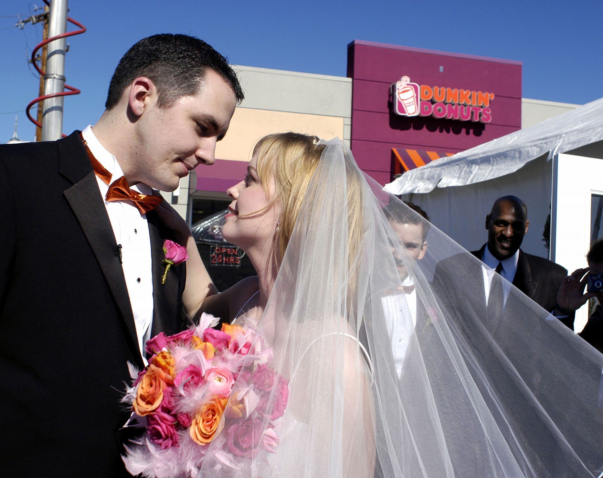Couple Marries At Dunkin' Donuts