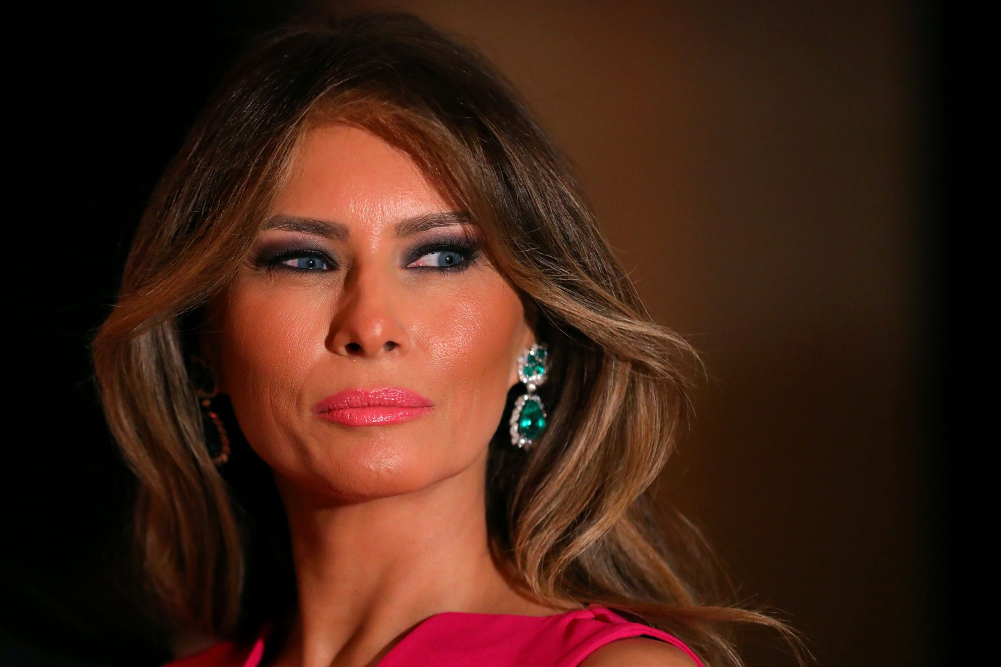 First Lady Melania Trump and U.S. President Donald Trump (not pictured) attend the 60th Annual Red Cross Gala at Mar-a-Lago club in Palm Beach, Florida, U.S.