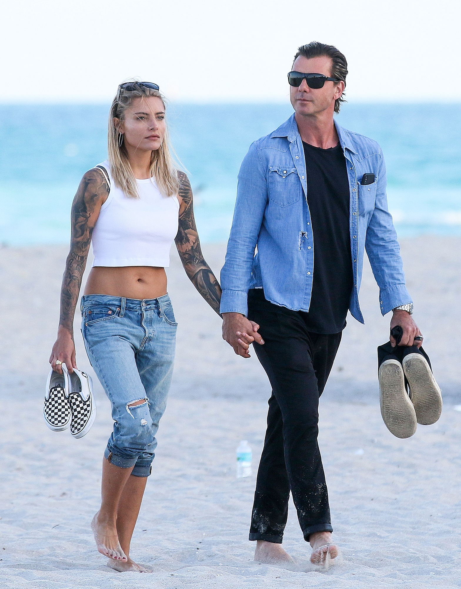 *EXCLUSIVE* Gavin Rossdale and girlfriend Sophia Thomalla pack on the PDA in Miami
