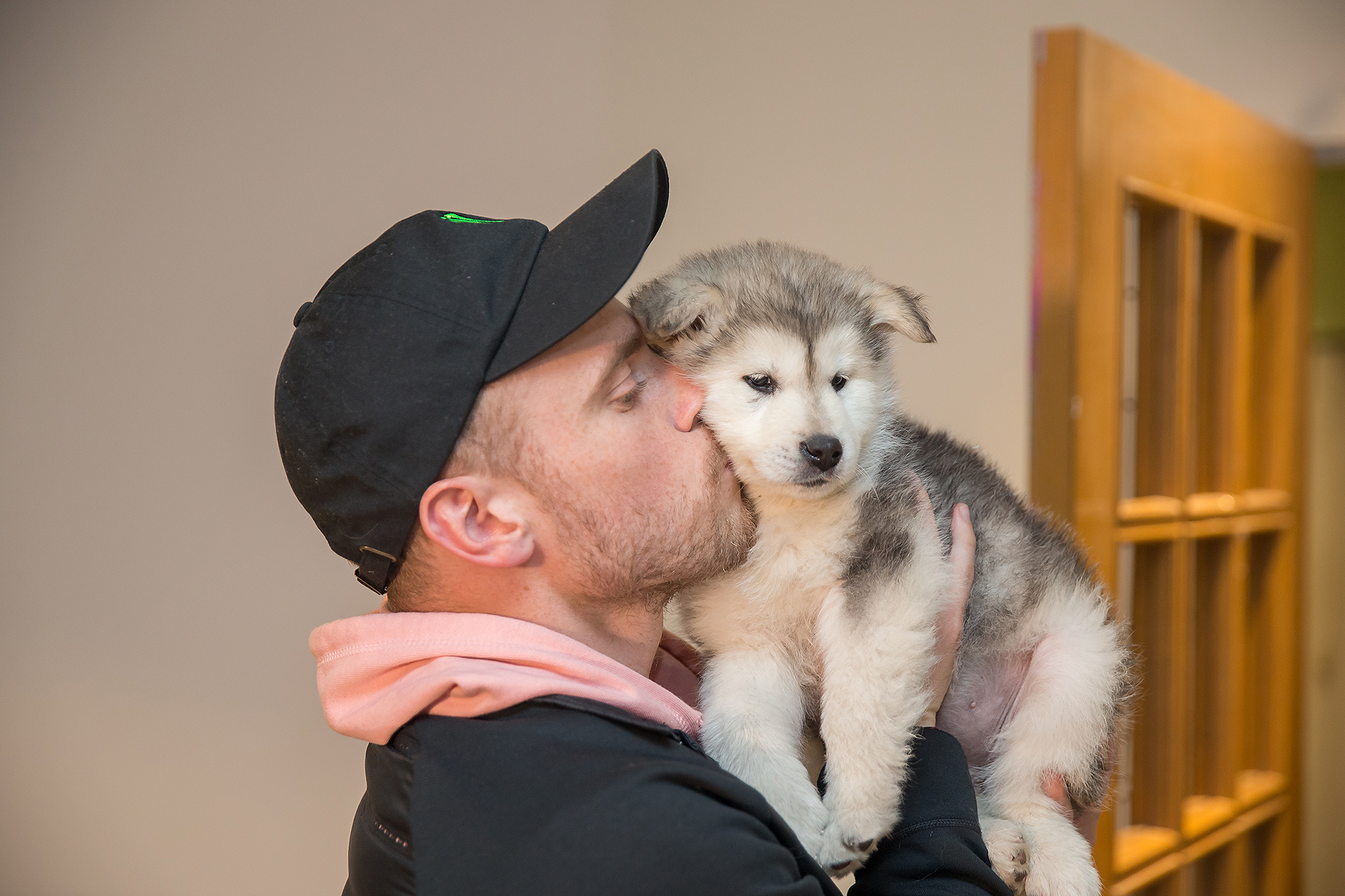 Gus Kenworthy and Beemo reunion