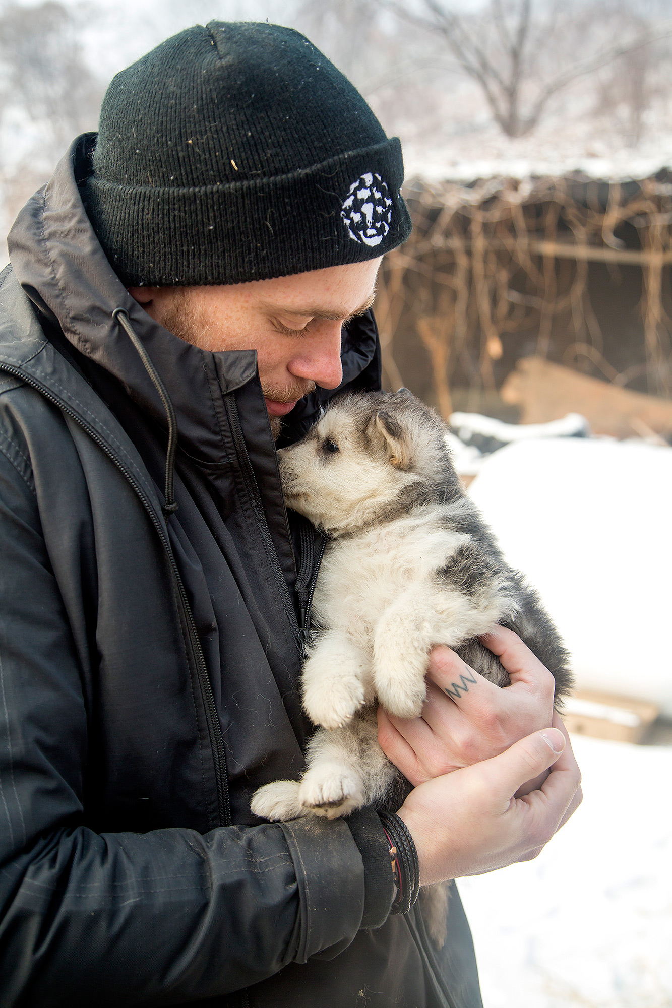Gus Kenworthy Visits South Korea Dog Meat Farm 11