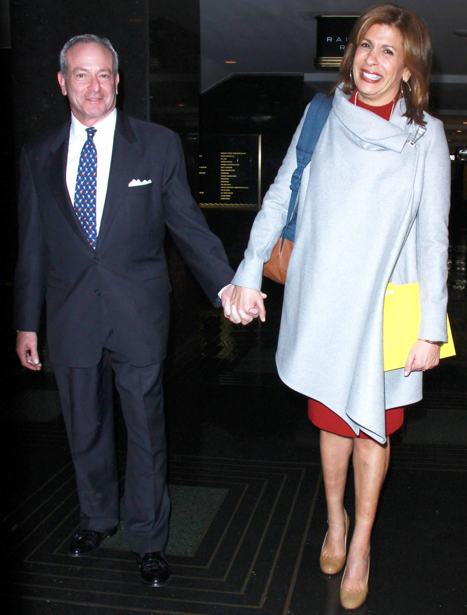 Hoda Kotb and Joel Schiffman Hold Hands While Leaving the NBC Store