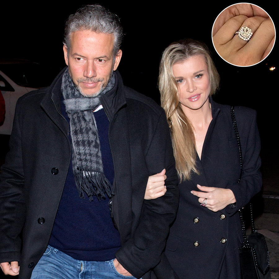 Joanna Krupa wearing a full length coat holds hands with her new Mystery man as she arrived for dinner at 'Craigs' Restaurant in West Hollywood, CA