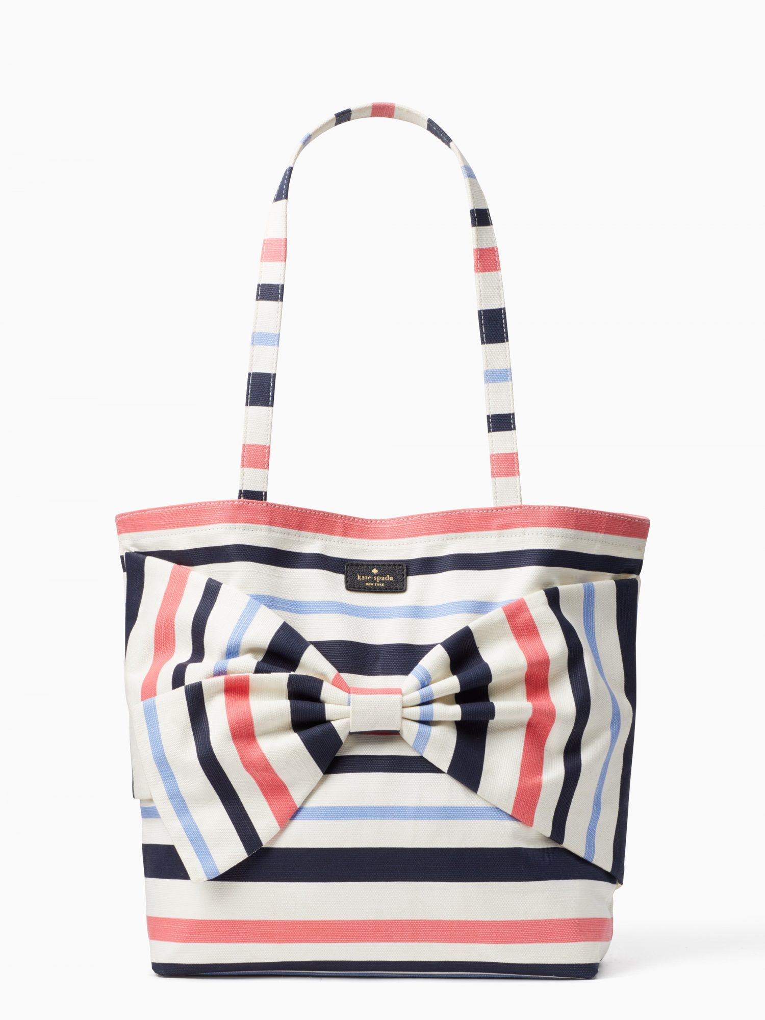 KATE SPADE on purpose canvas tote, stripe front view