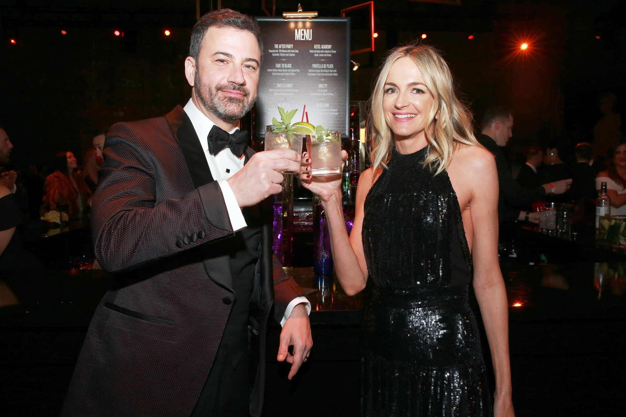 Jimmy Kimmel celebrates with Tequila Don Julio and Ciroc at his post-show after-party for Hollywood's biggest night at The Lot