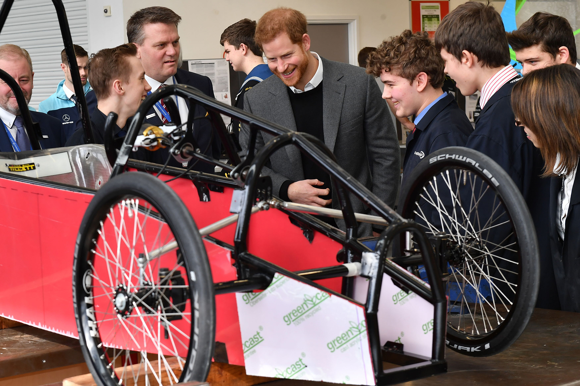 Prince Harry visit to Silverstone