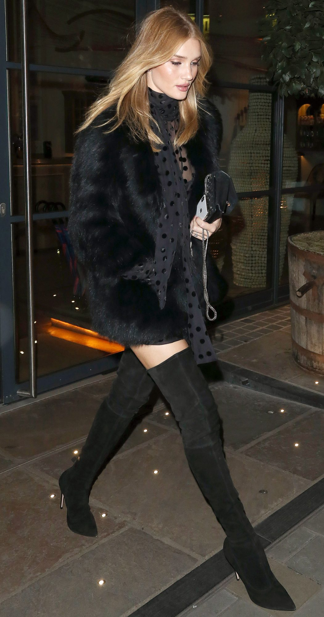 Rosie Huntington-Whiteley is Pictured Leaving Loulou's Private Members Club in Mayfair, London.