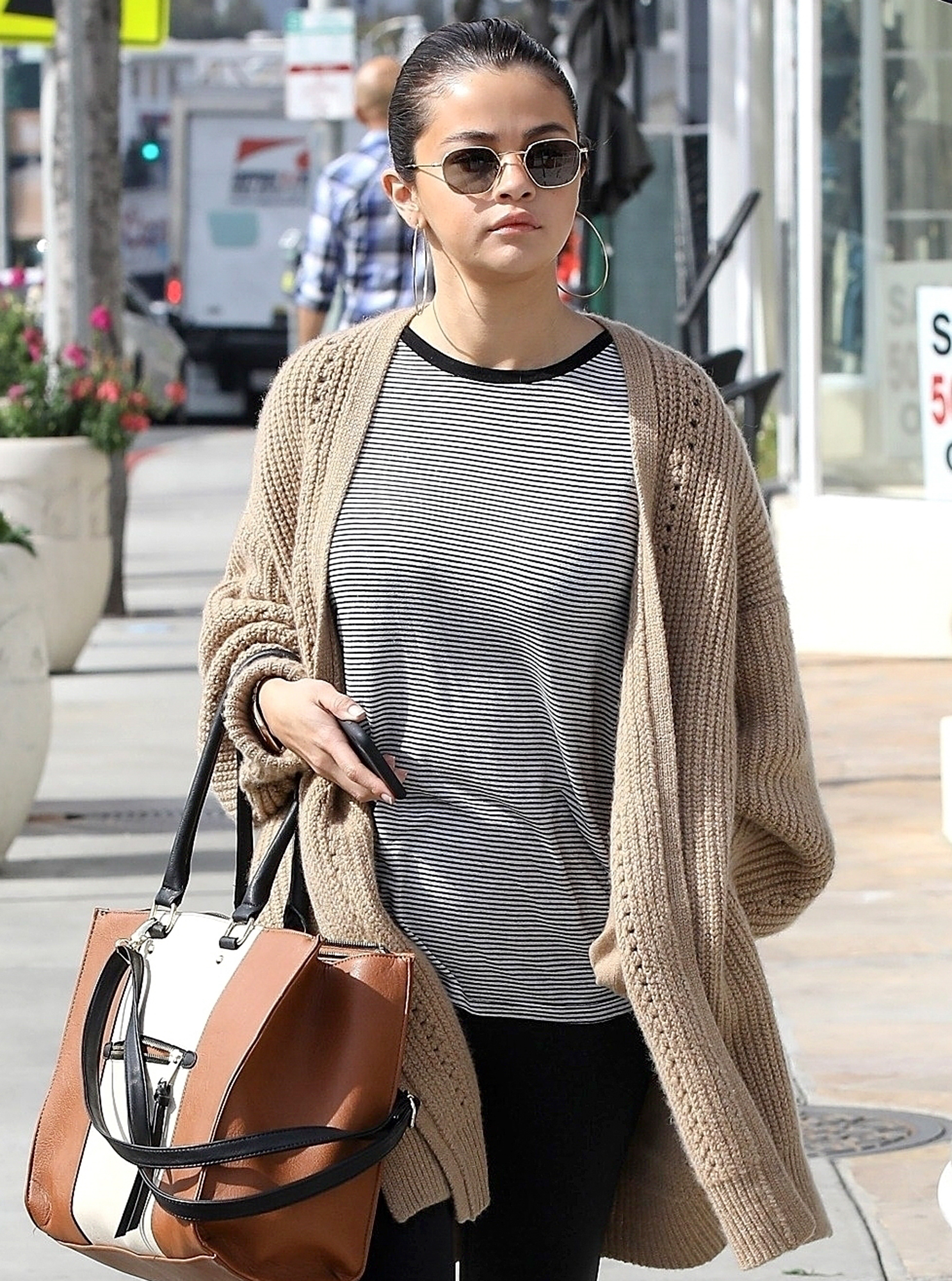 *EXCLUSIVE* Selena Gomez grabs a late breakfast in Hollywood