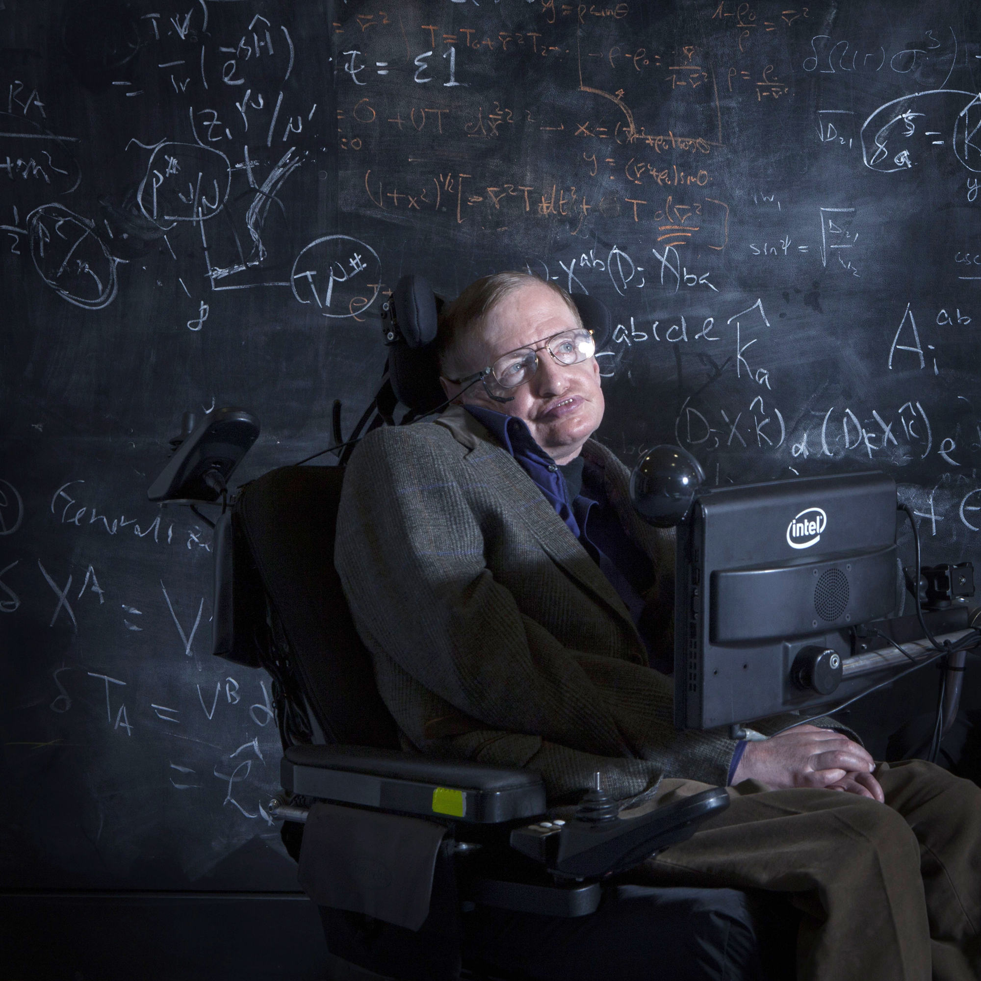 Professor Stephen Hawking at the Centre of Applied Maths and Theoretical Physics, Oxford, Britain - 12 Apr 2013