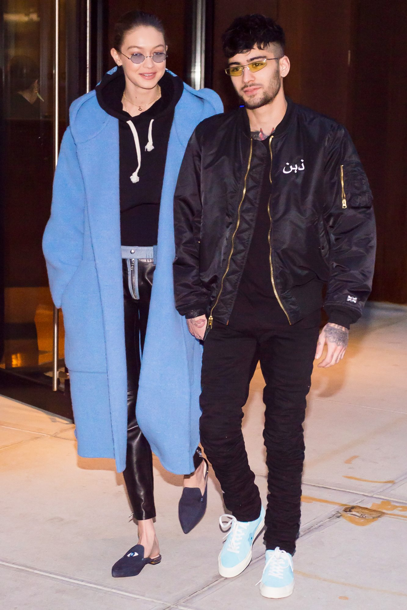 EXCLUSIVE: Gigi Hadid and Zayn Malik seen walking hand in hand in New York City