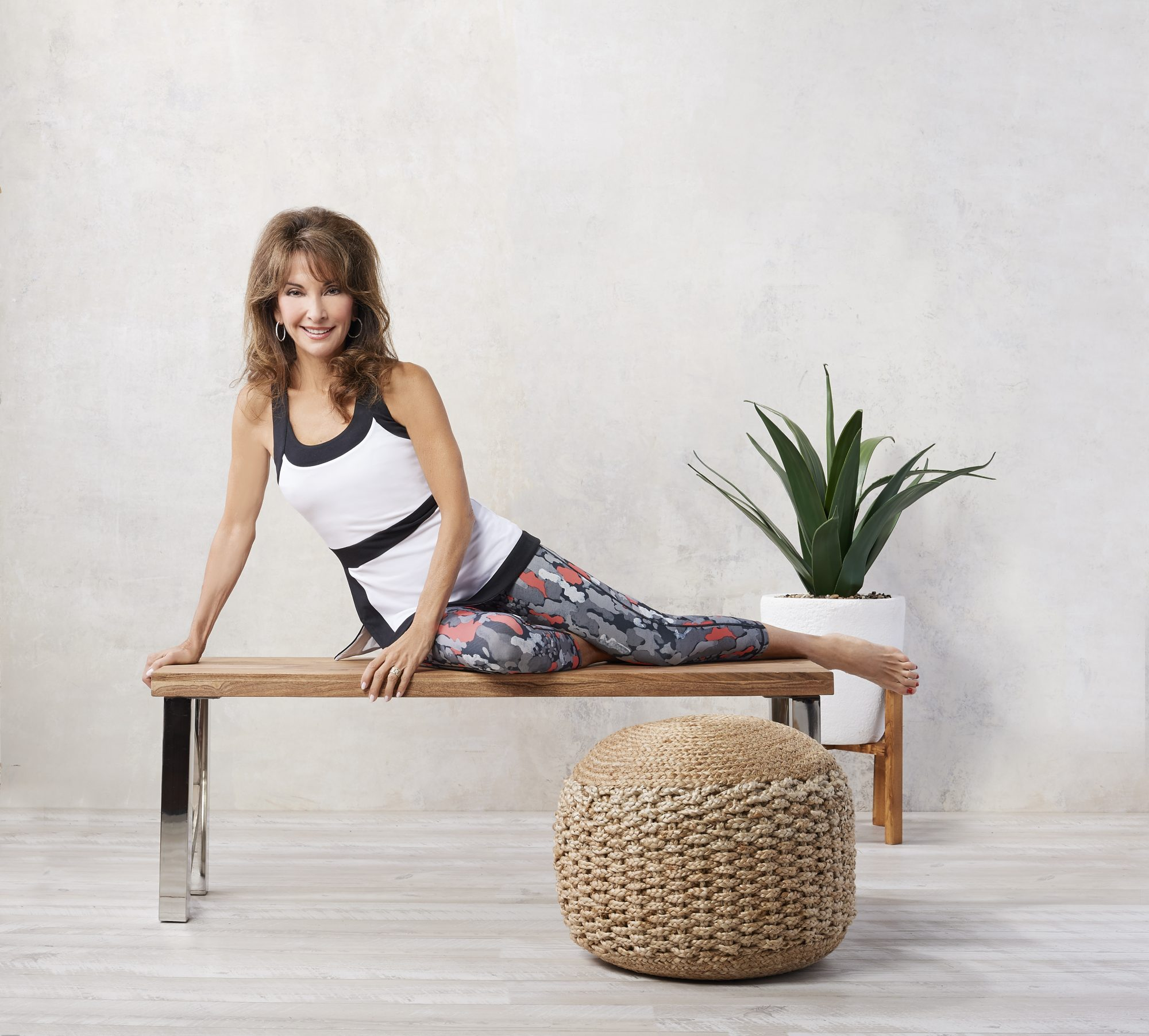 A308494-Susan Lucci Collection Cropped Printed Leggings_A30827-S