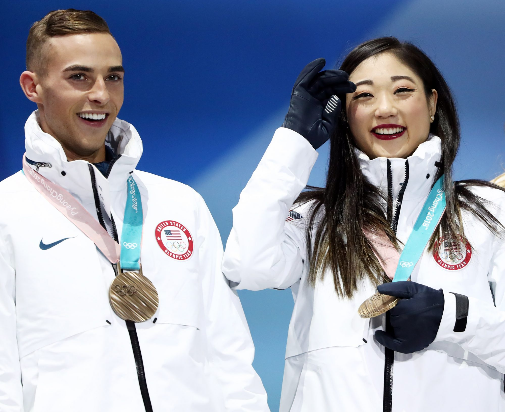 PyeongChang 2018 Winter Olympics: victory ceremony for figure skating team event