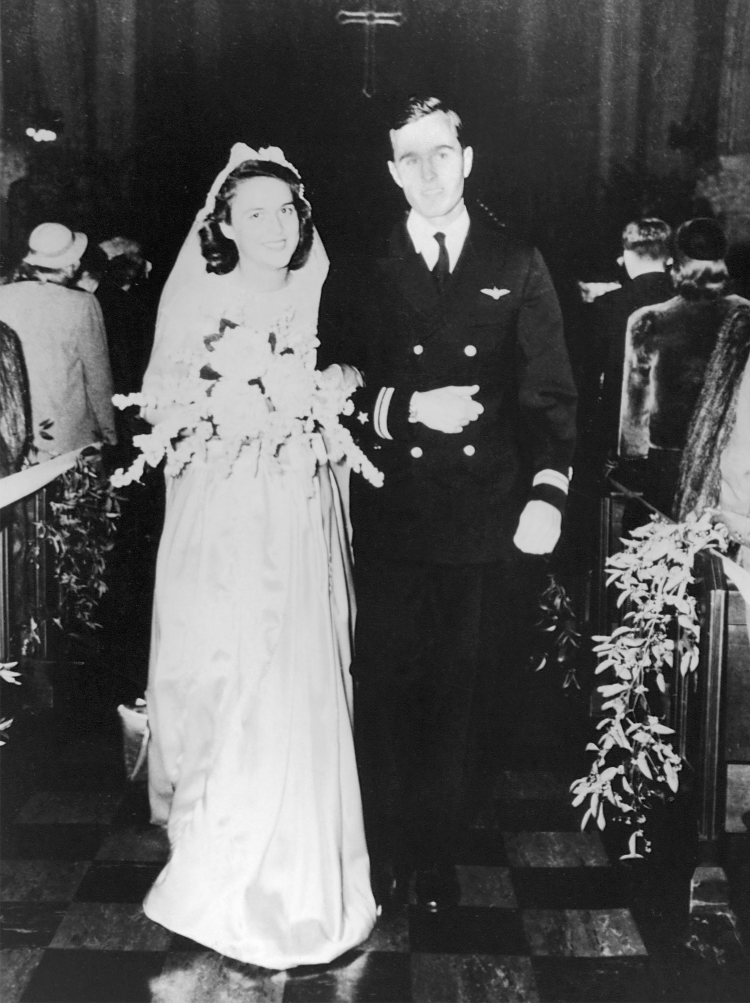 Wedding of George and Barbara Bush