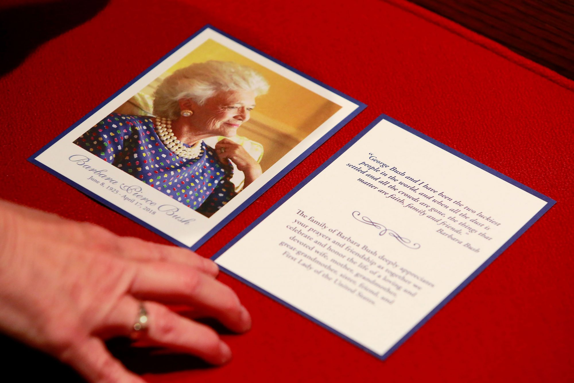 Mourners Pay Their Respects To Late First Lady Barbara Bush